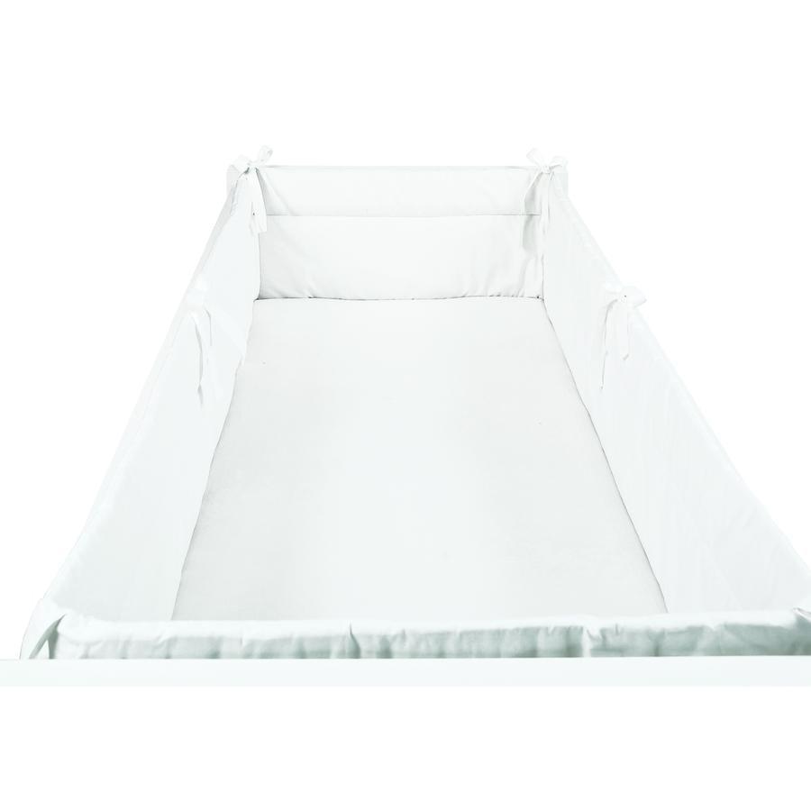 SONNE Tour de lit enfant uni 32x420 cm blanc