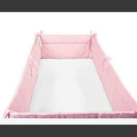 SONNE Tour de lit enfant uni 32x420 cm rose