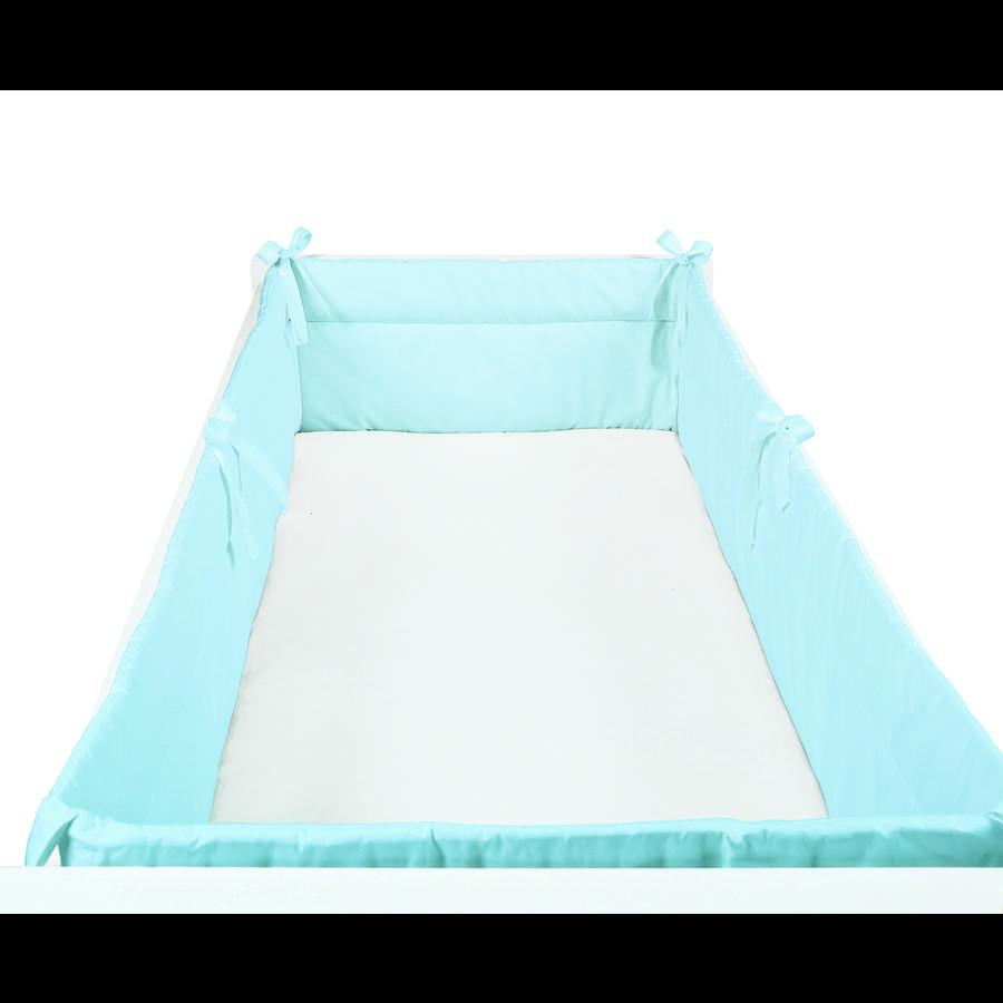 SONNE Tour de lit enfant uni 32x420 cm bleu
