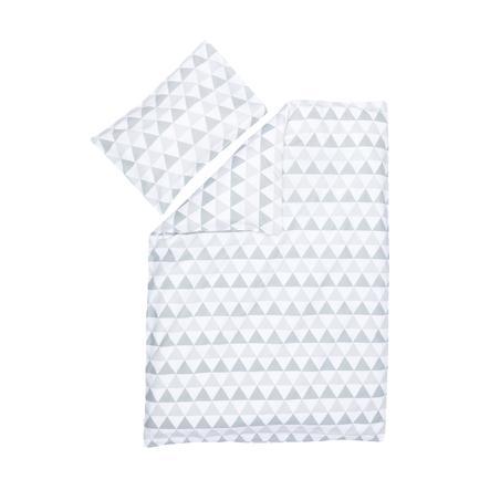 fillikid Parure de lit enfant triangles gris 100x140/40x60 cm