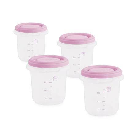 myiland sett 4 hermisisert oppbevaringsbeholder rosa 250ml