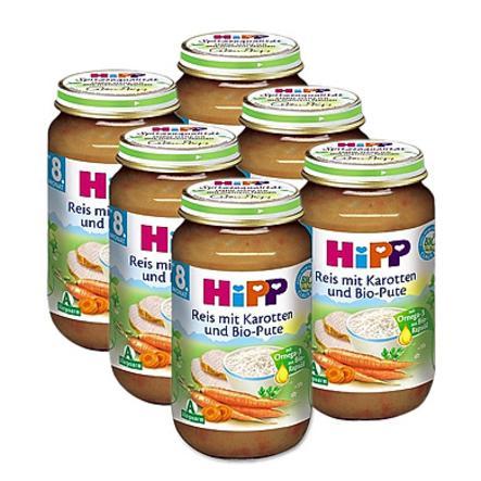 HiPP Bio Reis mit Karotten und Bio-Pute 6x220g