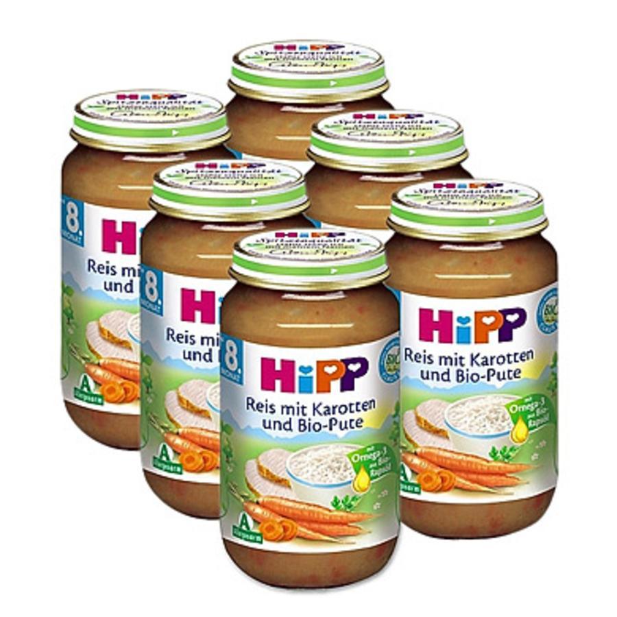 HiPP Bio Reis mit Karotten und Bio-Pute 6 x 220 g
