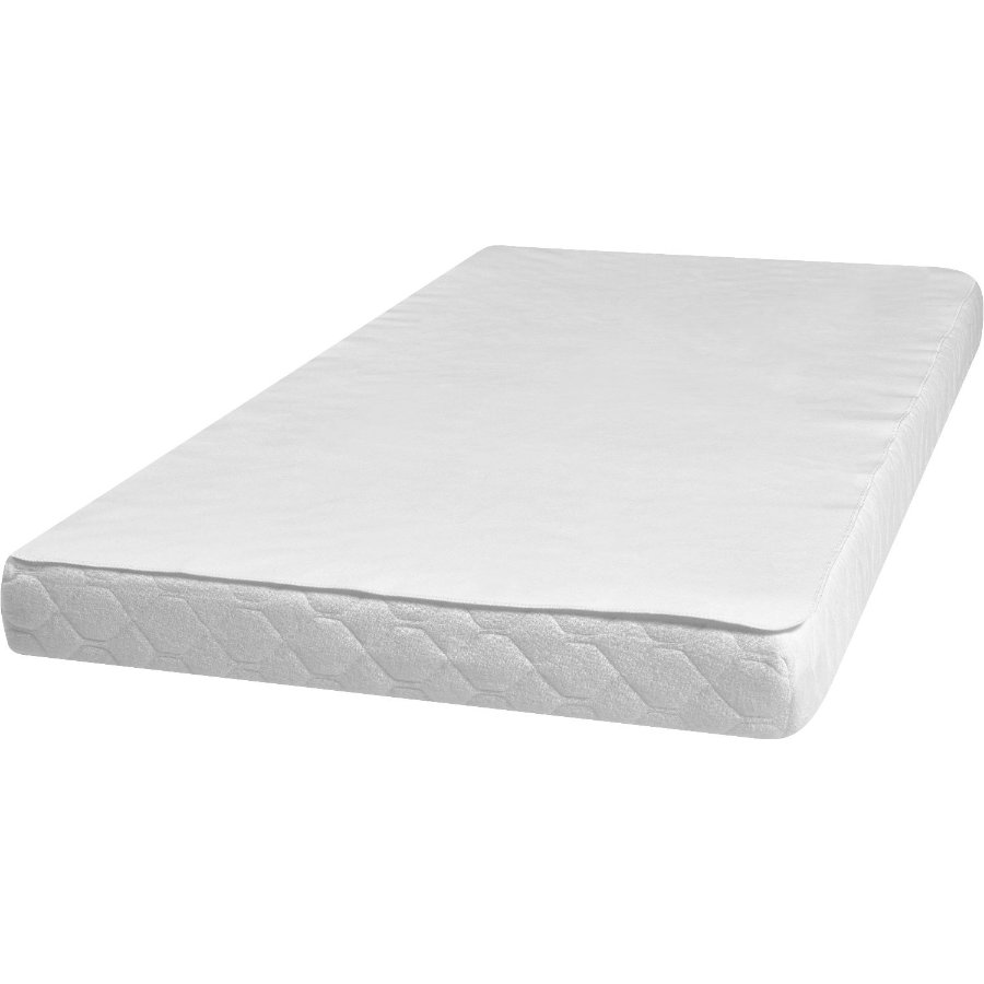 Play shoes Podkładka pod łóżko Molton/Frottee 100x200cm biała