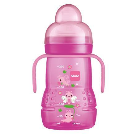 MAM Trinklernflasche Trainer+ pink 220 ml