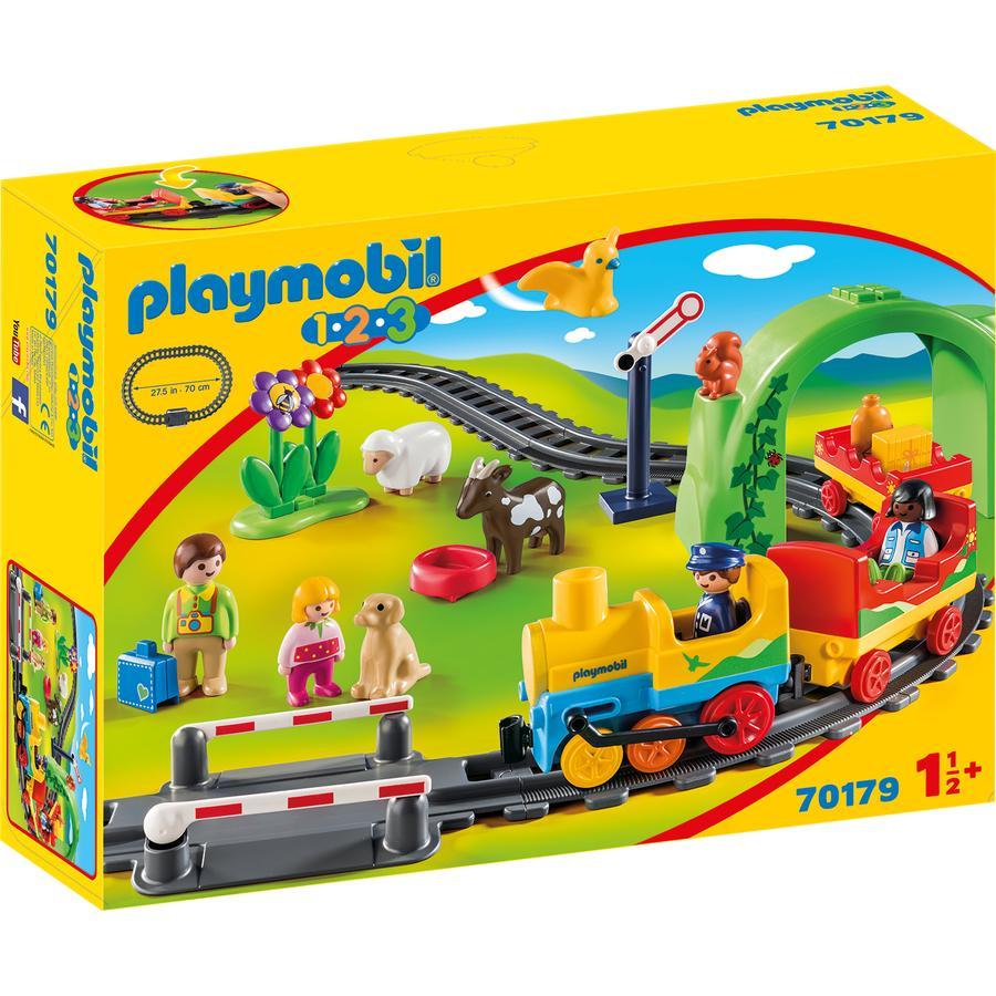PLAYMOBIL® 1.2.3 Mijn eerste Spoorweg 70179
