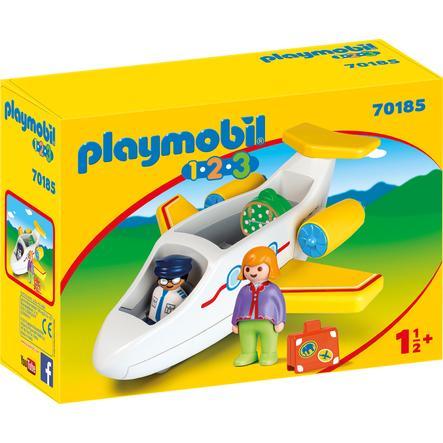 PLAYMOBIL® 1.2.3 Passagiersvliegtuig 70185