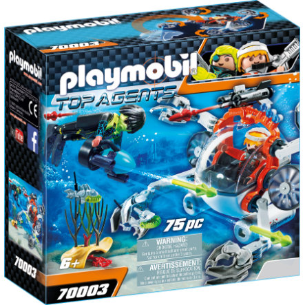 PLAYMOBIL® Top Agents Granchio Subacqueo dello Spy Team 70003
