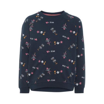 name it Girls Sweatshirt dark sapphire AOP