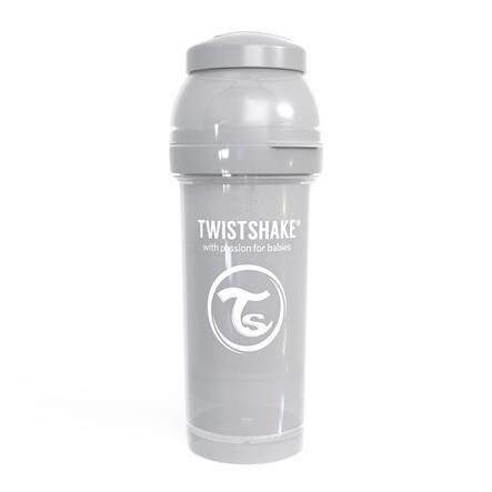Twist shake láhev antikolik 260 ml pastelově šedá