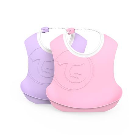 Twist shake śliniak pastel dla dzieci różowy