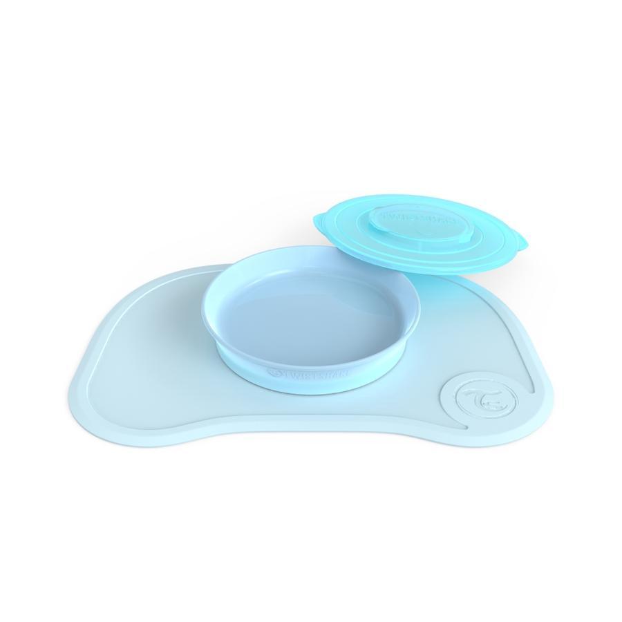 Twist shake Bord met bijpassende voet pastel l blauw