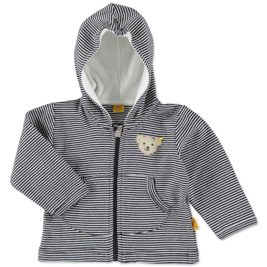 STEIFF Baby Sweat Jacket Stripes navy