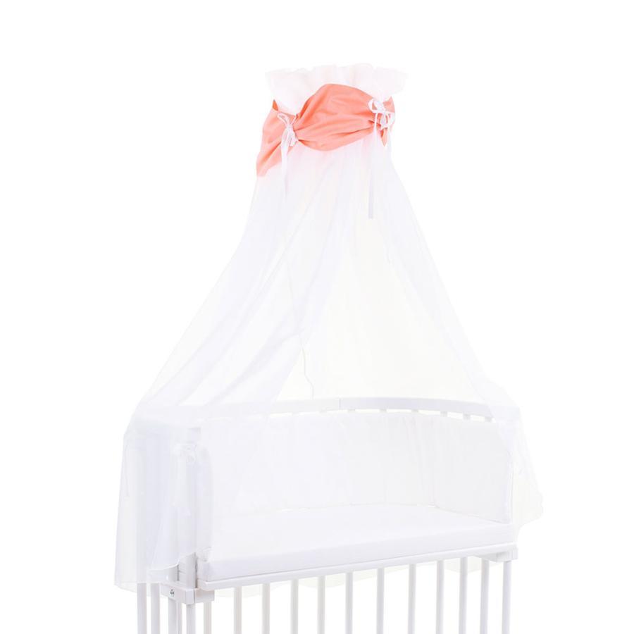 babybay Ciel de lit, orange/blanc