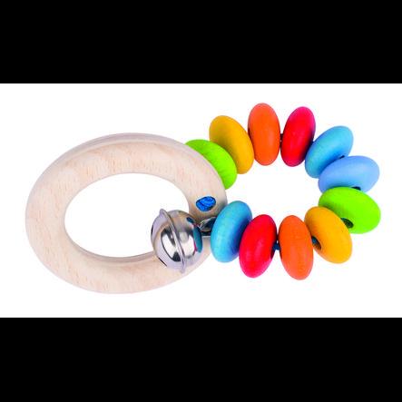 HEIMESS Hochet soft colors arc-en-ciel 1 bois