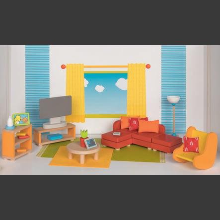 goki panenky nábytek obývací pokoj