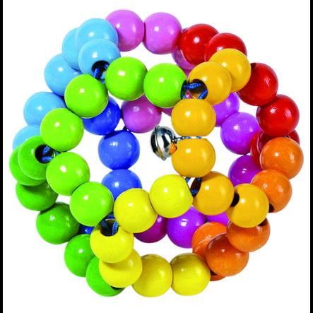 HEIMESS Greifling Elastik Ball Regenbogen