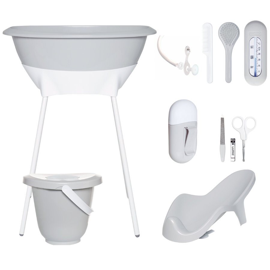 Luma® Babycare Bade- og pleiesett light grey