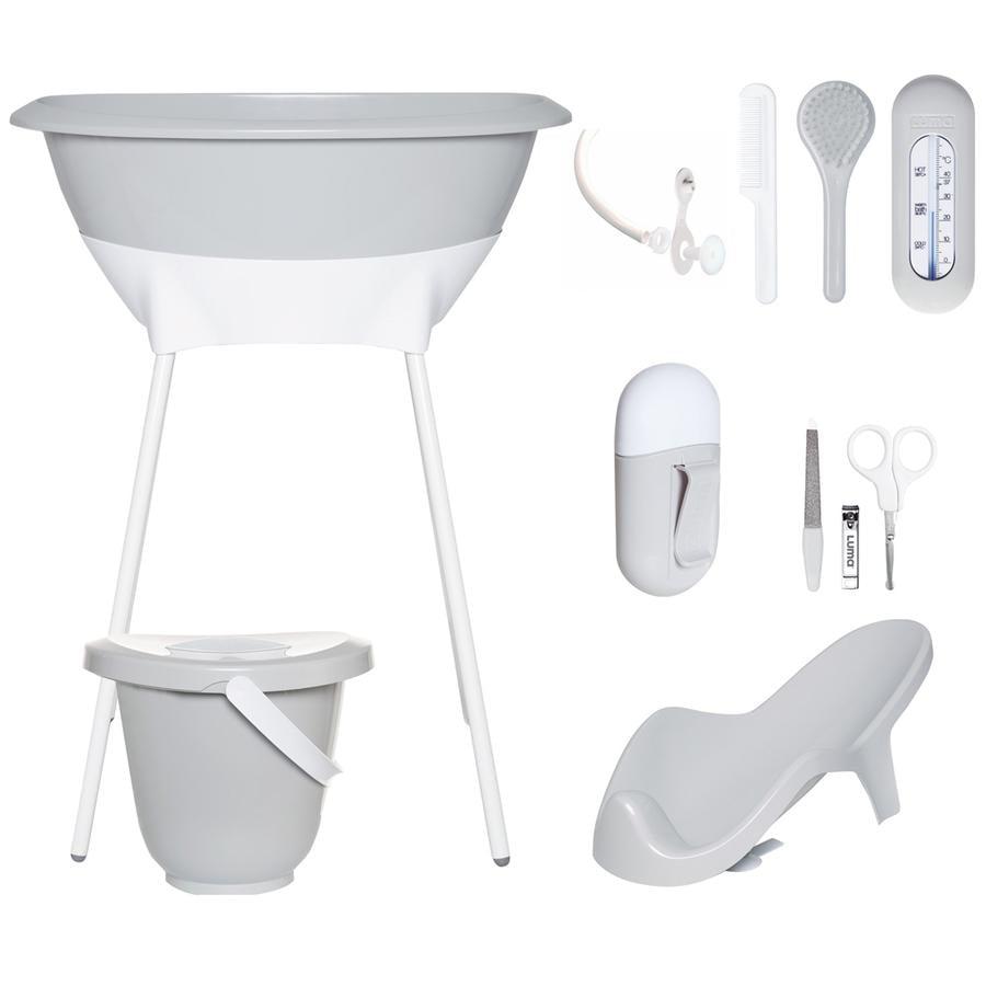 Luma® Babycare Kit bain baignoire sur pieds bébé gris clair