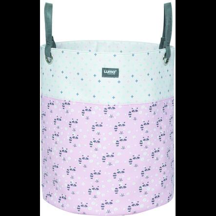 Luma ® vauvanhoito Lelu kori Racoon Pink iso