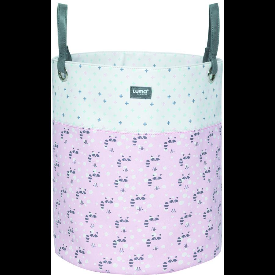 Luma ® Babypleje Legetøjskurv Racoon Pink large