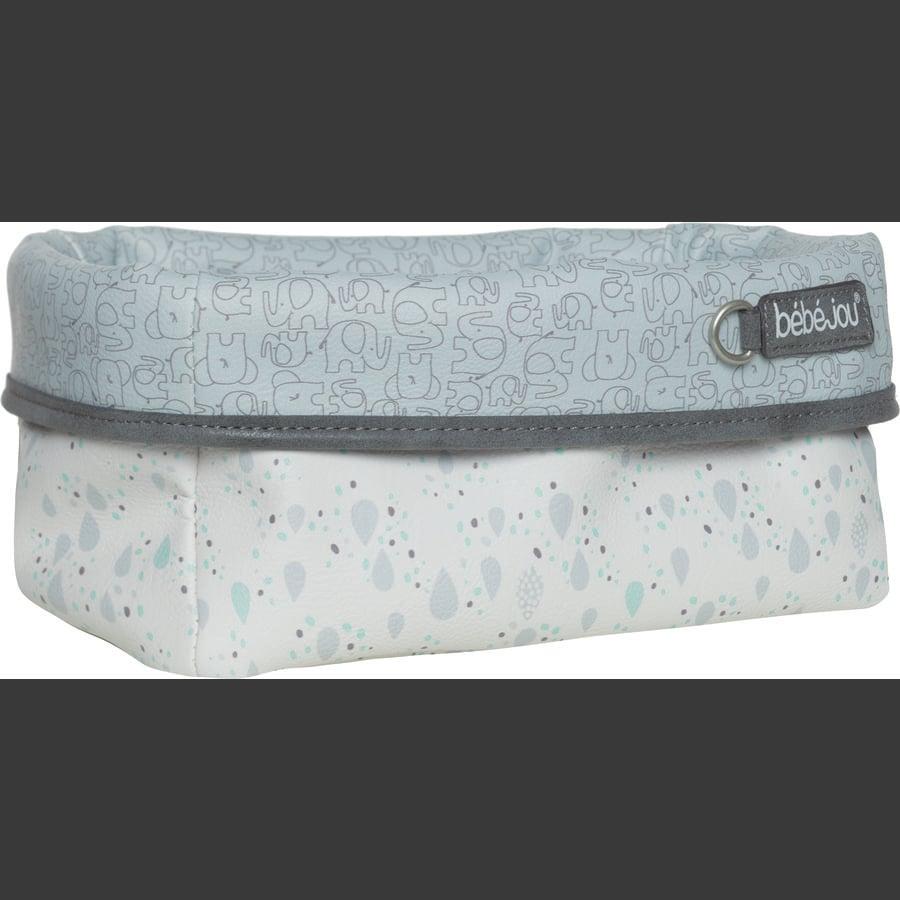 bébé-jou® Panier de rangement Ollie éléphant gris