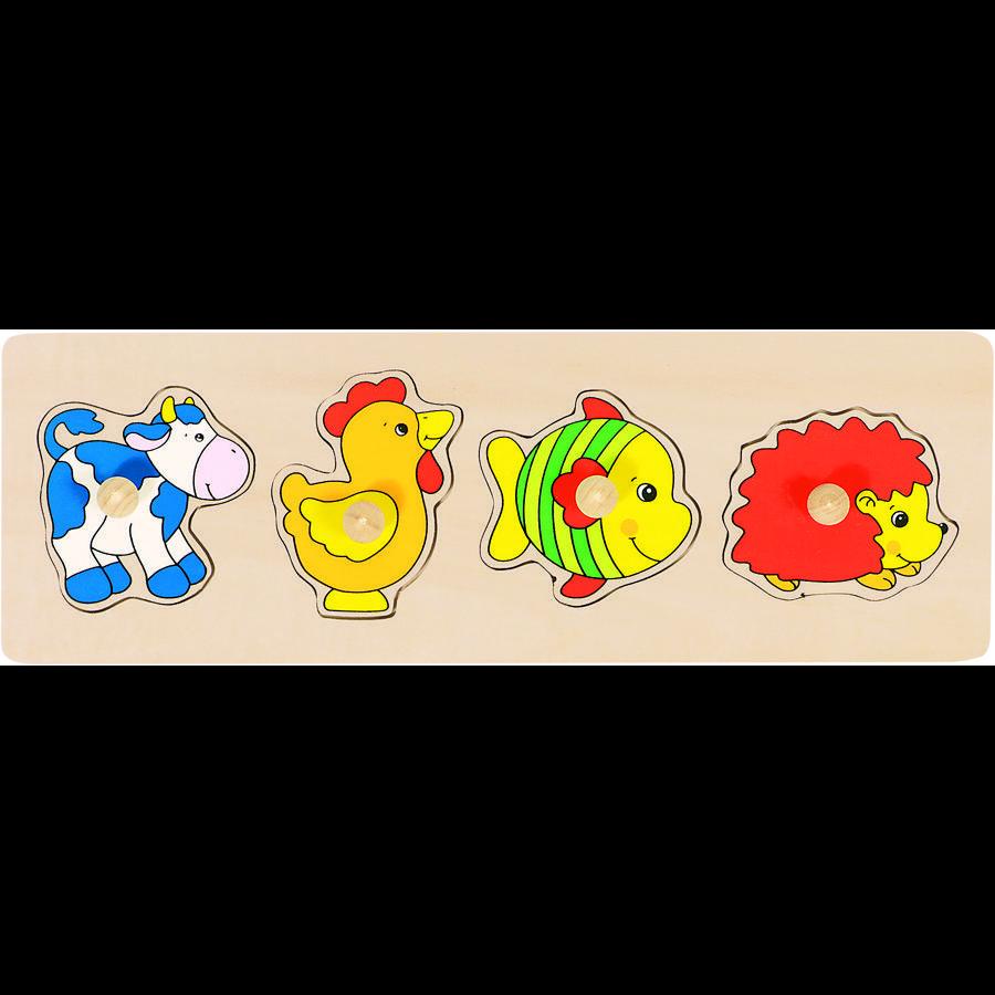 goki Puzzle vache, coq..., 4 pièces