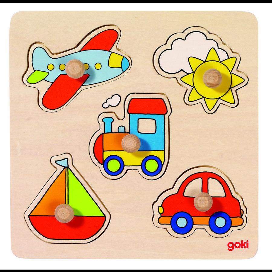 goki Puzzle básico Mi viaje, 5 piezas