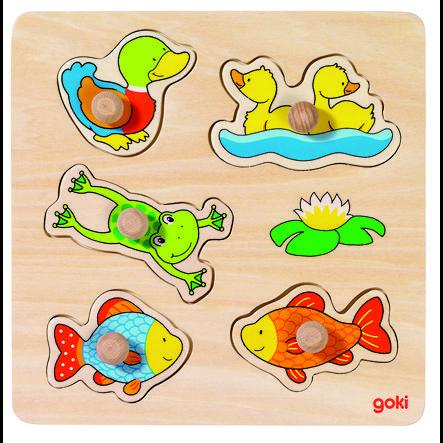 goki basic Steckpuzzle Unser Teich, 5 Teile