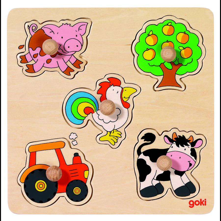 goki basic Puzzle in campagna, 5 pezzi