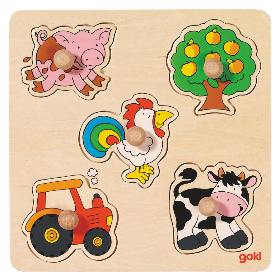 goki základní Puzzle v zemi, 5 kusů
