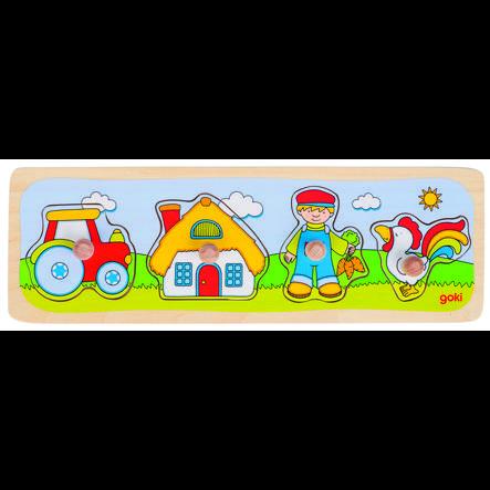 goki Puzzle Visita a la granja, 4 piezas