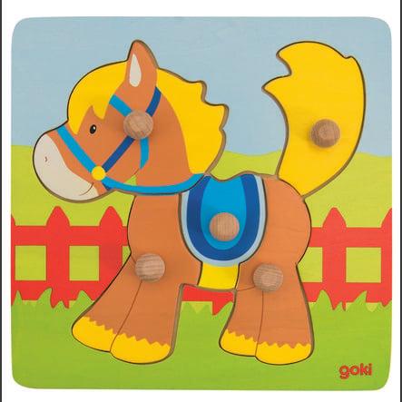 goki Steckpuzzle Pferd, 5 Teile