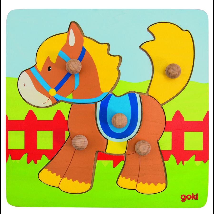 goki Puzzle cheval, 5 pièces