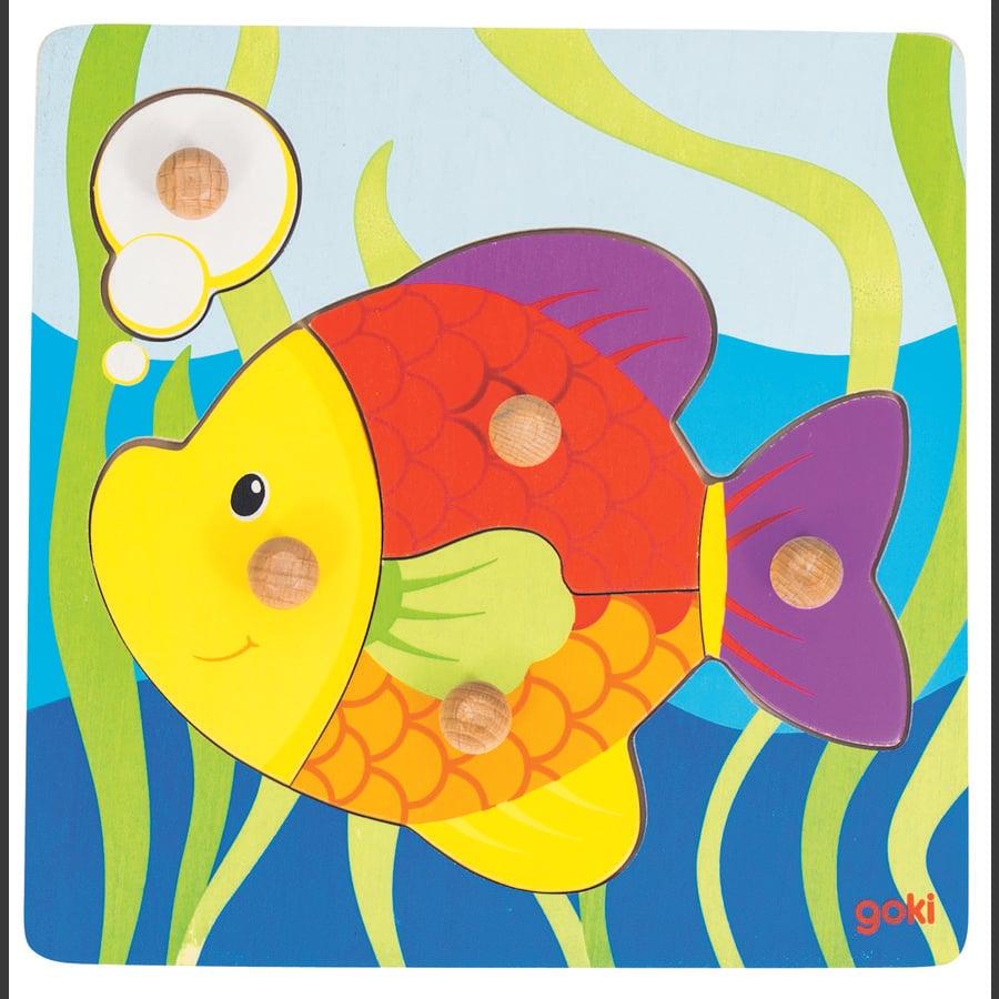 goki Puslespil Fisk, 5 dele