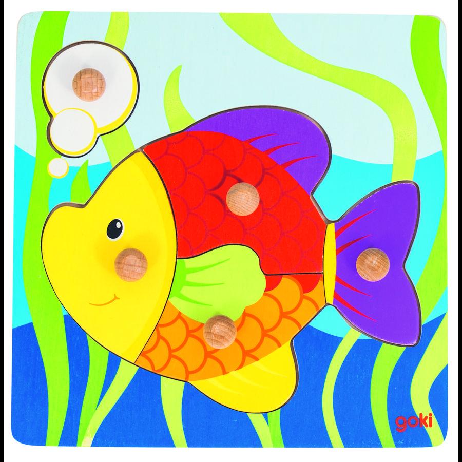 goki Steckpuzzle Fisch, 5 Teile