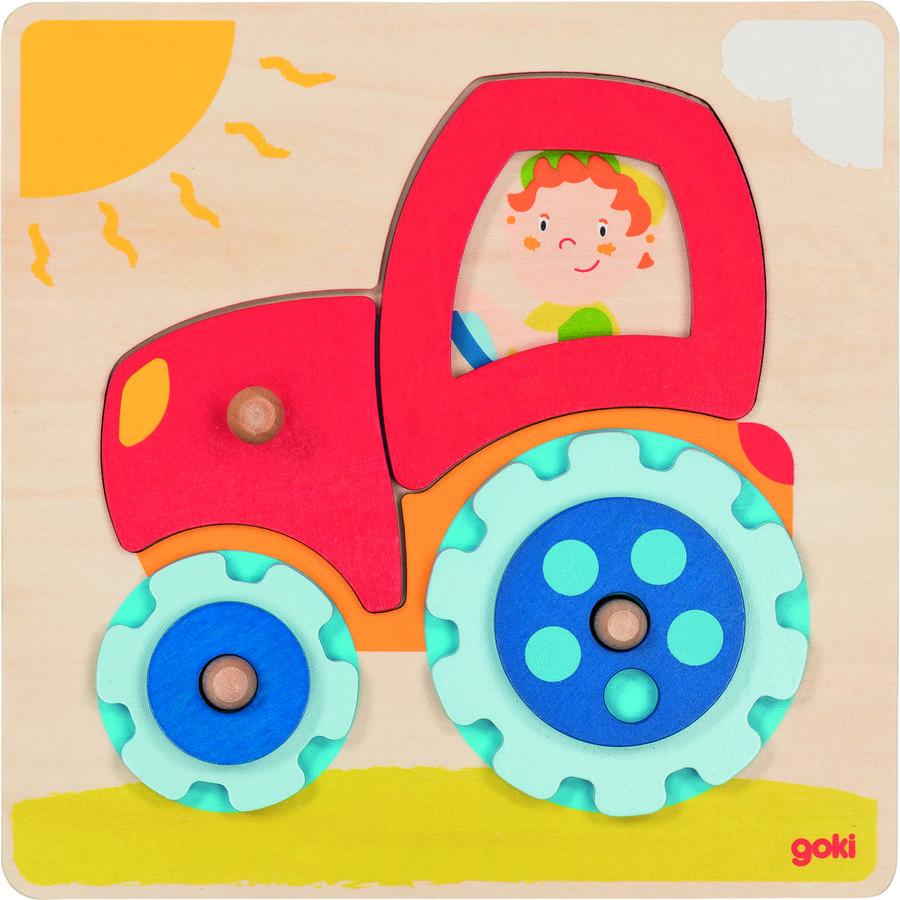 LENA Rammepuslespil Traktor 6 dele