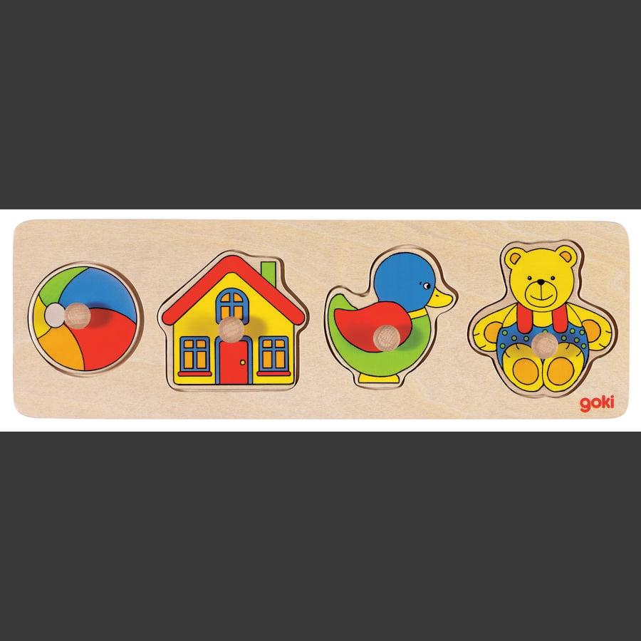 goki Steckpuzzle Spielzeug 4 Teile