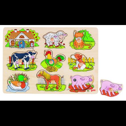 goki Sound fattoria di puzzle con voci di animali
