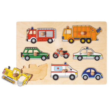 goki Steckpuzzle Verkehrsmittel, 8 Teile