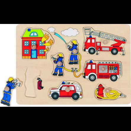 goki Steckpuzzle Feuerwehr, 8 Teile
