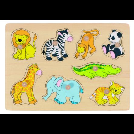 goki Puzzle Zoo Animals, 8 stk