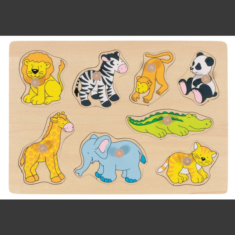 goki Steckpuzzle Zootiere, 8 Teile