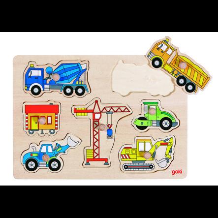 goki Veicoli da costruzione puzzle, 7 pezzi
