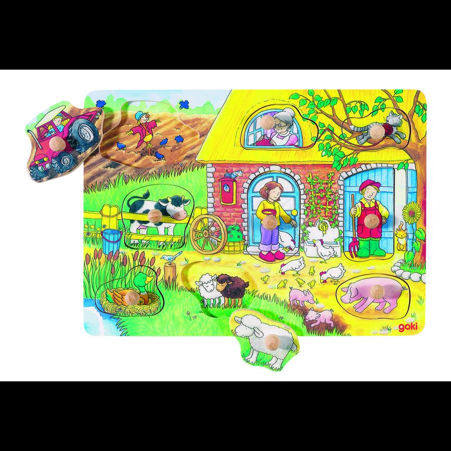 goki Ferme de puzzle de fond, 9 pièces