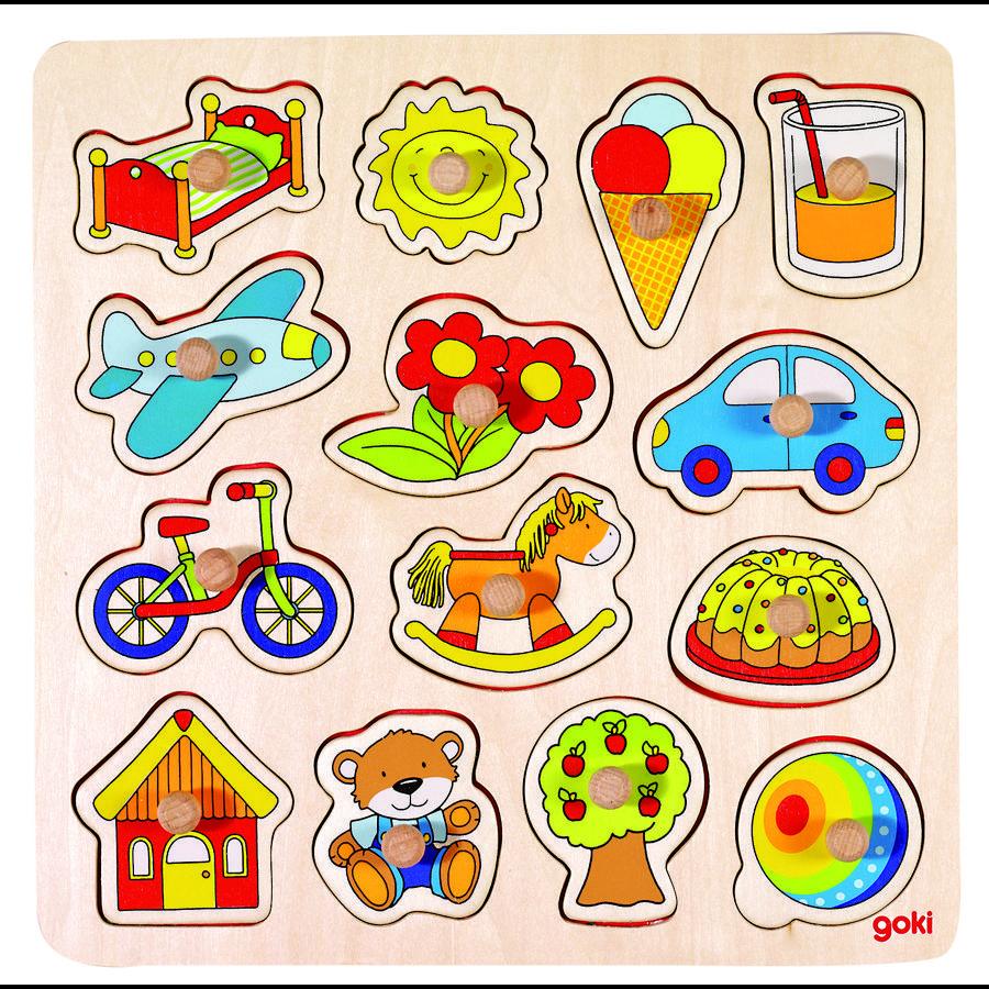 goki Puzzle cheval à bascule, ballon,..., 14 pièces