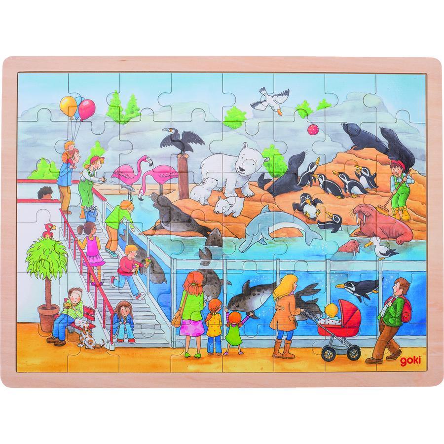 goki Einlegepuzzle Ausflug in den Zoo, 48 Teile