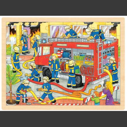 goki Einlegepuzzle Feuerwehreinsatz, 48 Teile