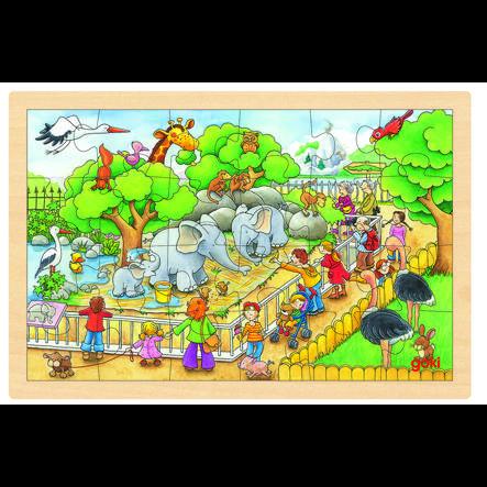 goki Puzzel Bezoek aan de dierentuin 24 delen