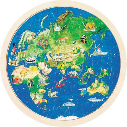 goki Puzzle inlay globe, 57 kusů
